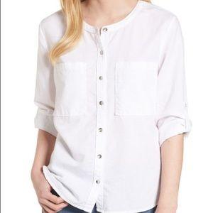 Caslon Linen & Cotton Long Sleeve Top